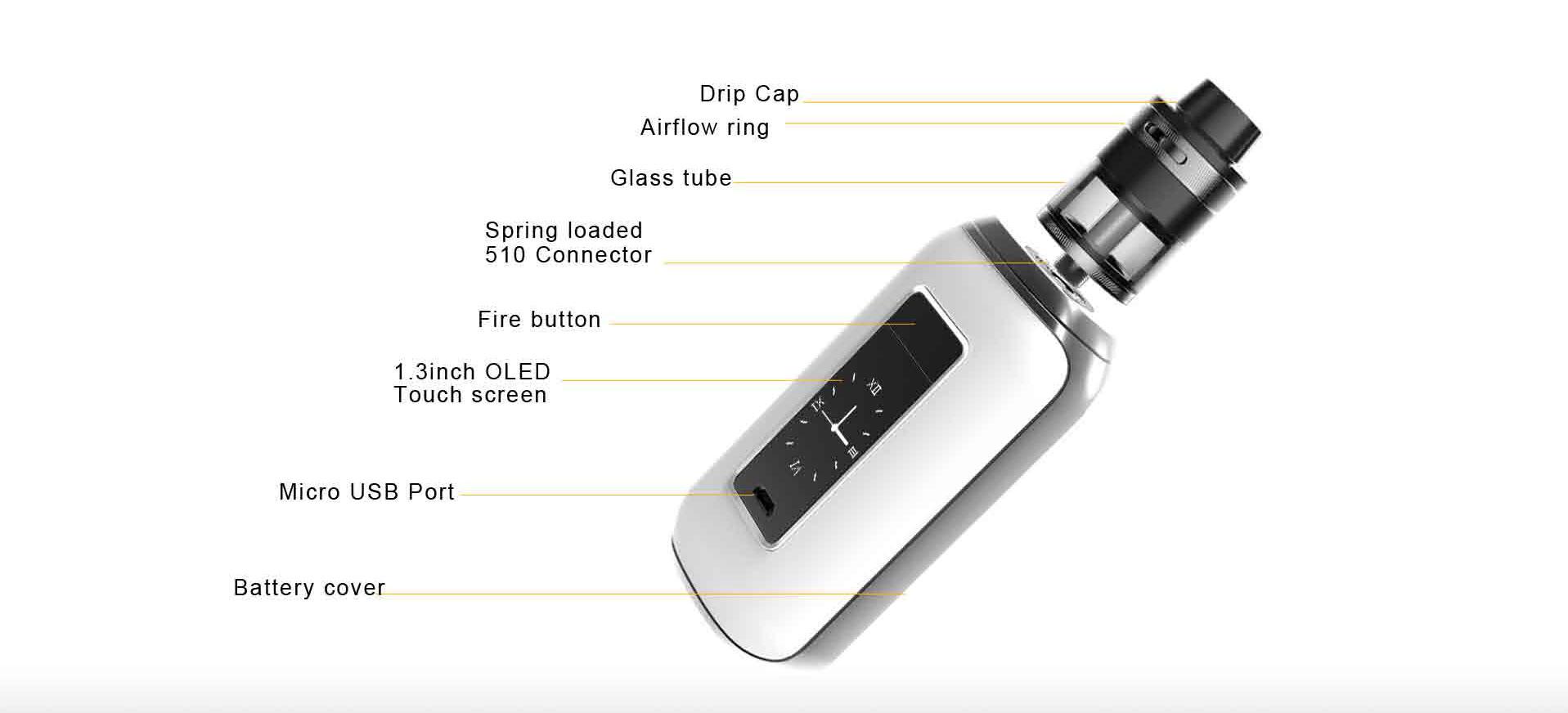 Aspire SkyStar Revvo Kit Component View