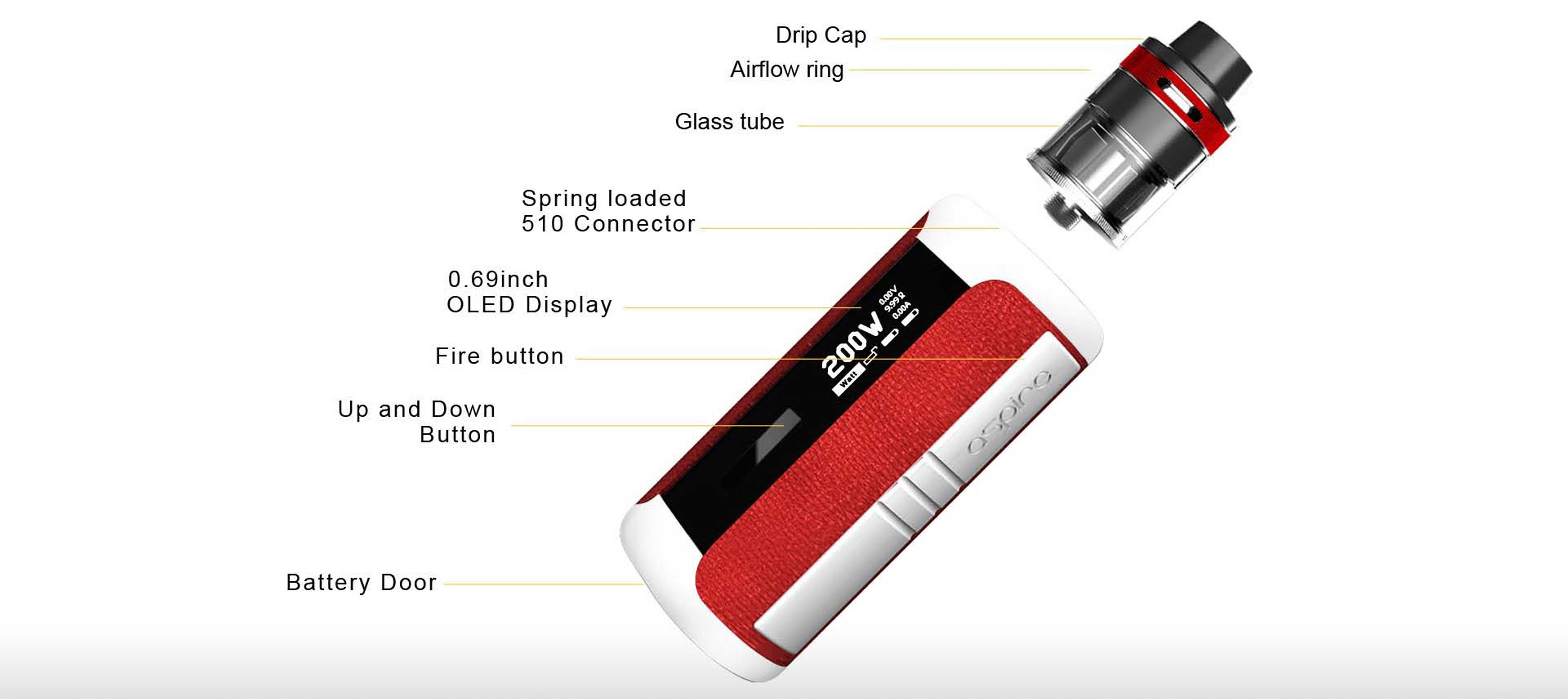 Aspire Speeder Revvo Kit Component View